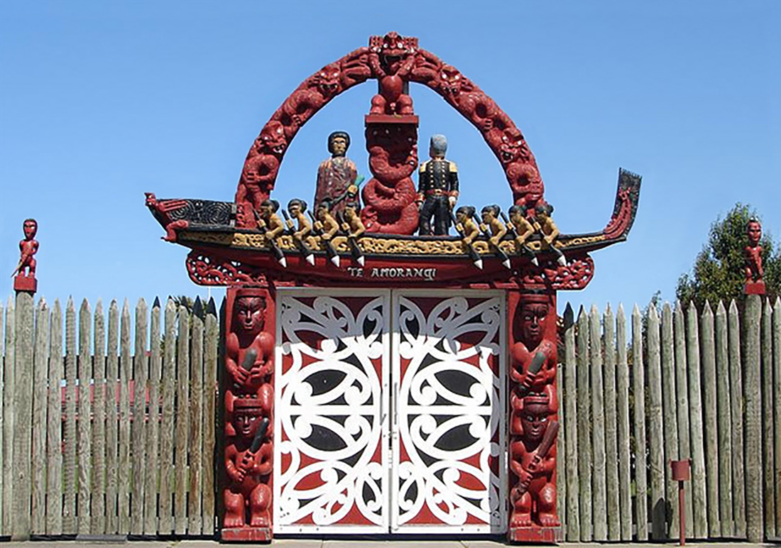 Marae gates